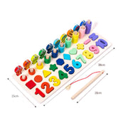 Natural Wooden Rainbow - Montessori Puzzle Board