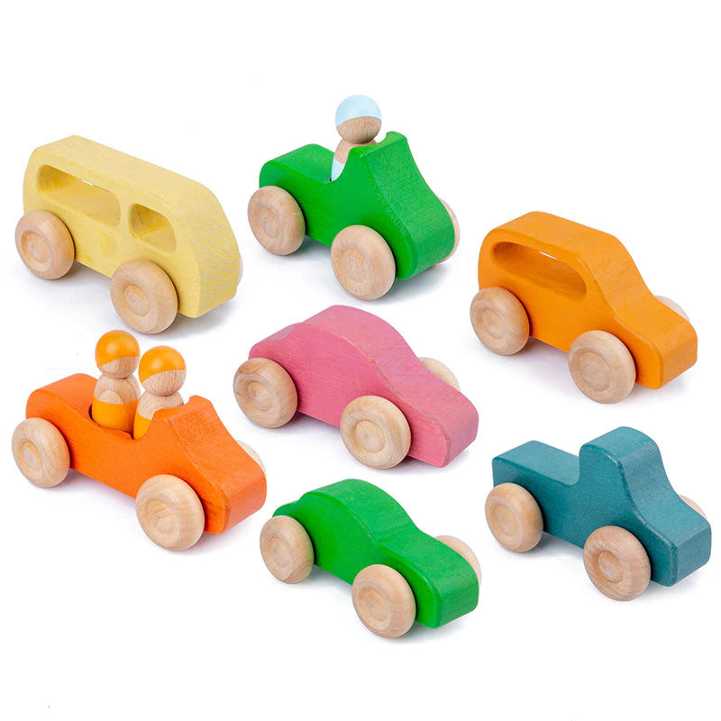 Handcrafted Wooden Car Set