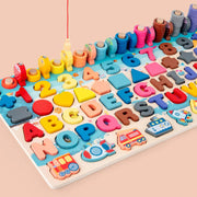 Pastel Packed - Montessori Puzzle Board
