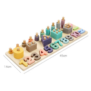 Shape Locator - Montessori Puzzle Board