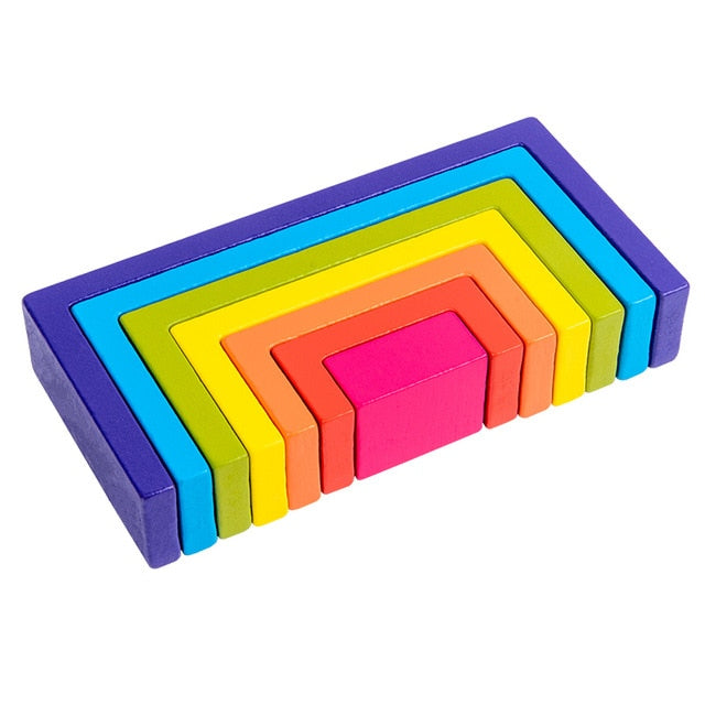 Rainbow Square Stacker