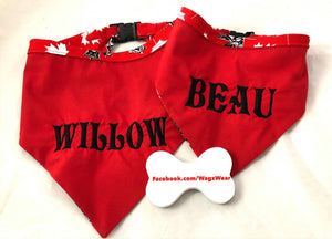 Customizable Dog Bandanas