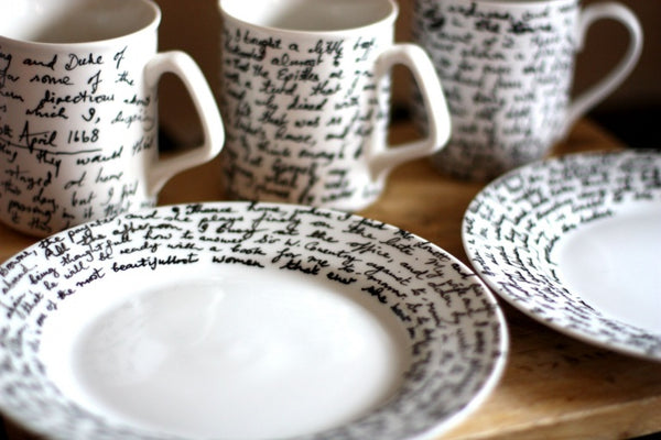 Handwritten DIY Crockery