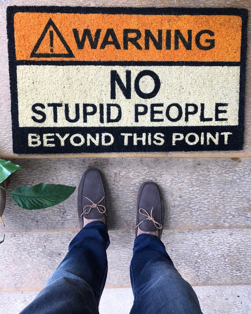 Warning Door Mat