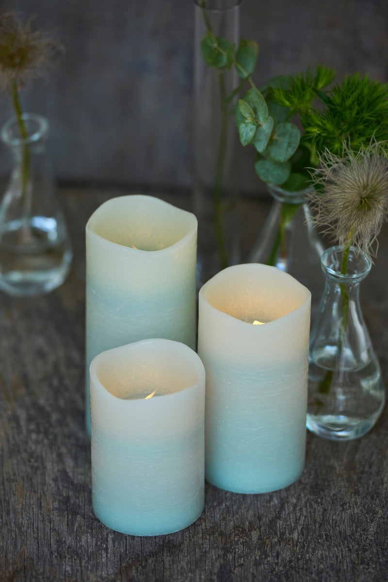 MINT LED CANDLE SET OF 3