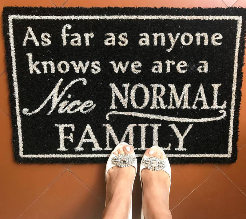 Normal Family Front Door Mat
