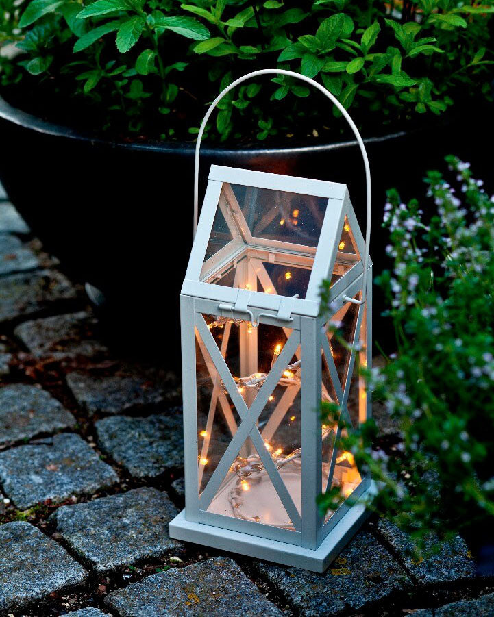 FAIRYLIGHT LANTERN WHITE - SMALL