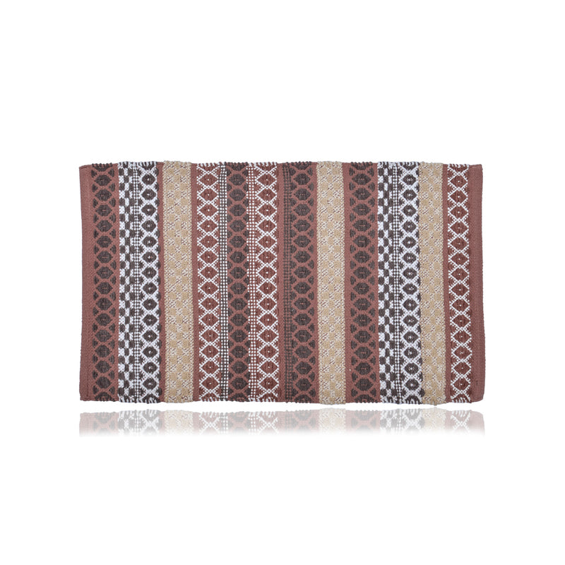 Diamond Boho Brown Dhurrie