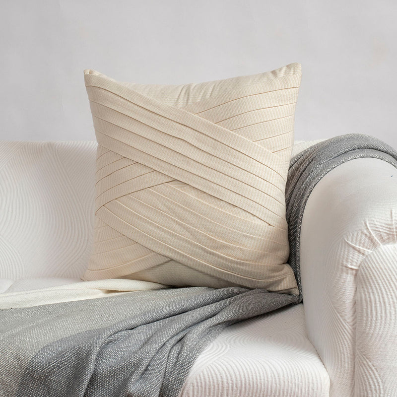 Linen Pleating Cushion Cover