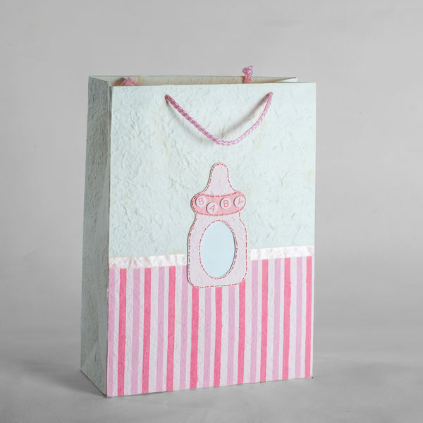 Personalised Bottle Silk Paper Gift Bag