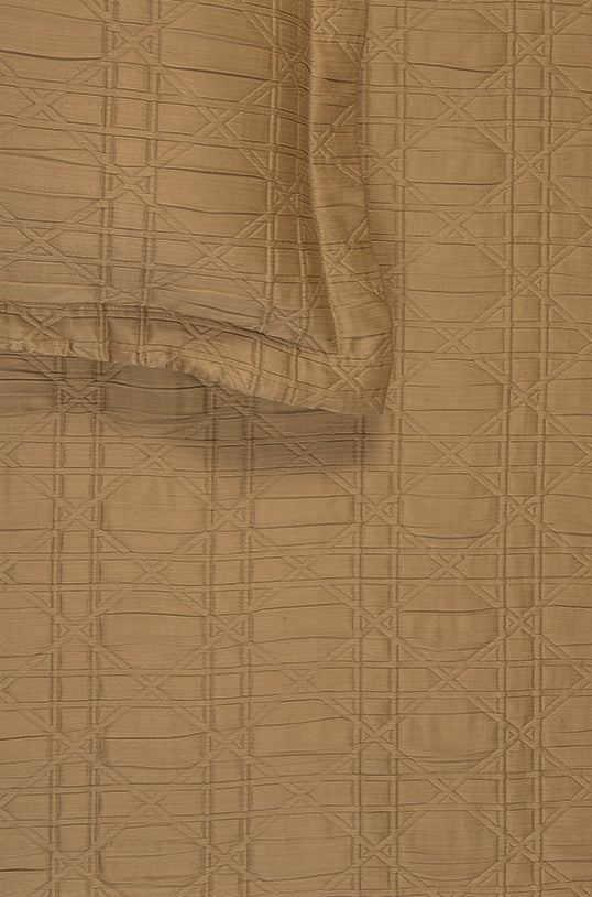 Hatching Ochre Bedspread Set