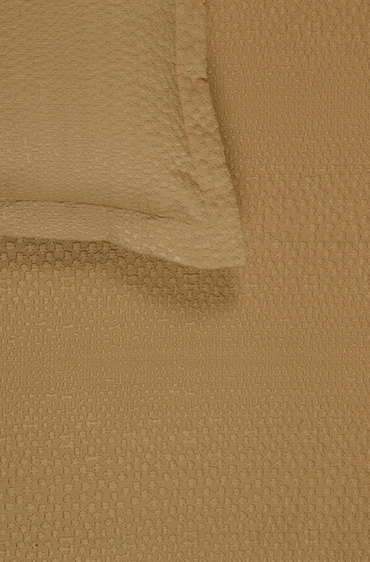 Pixelated Ochre Bedspread Set