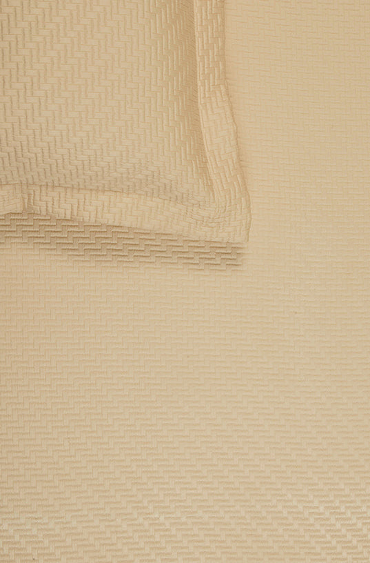 Cross Hatch Cream Bedspread Set