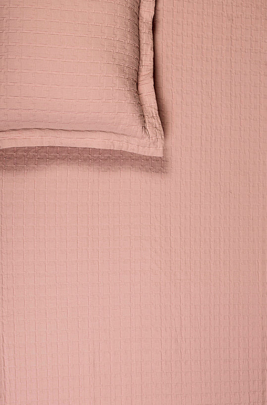 Jigsaw Pink Blush Bedspread Set