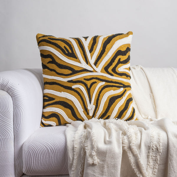Feline Stripe Cushion Cover