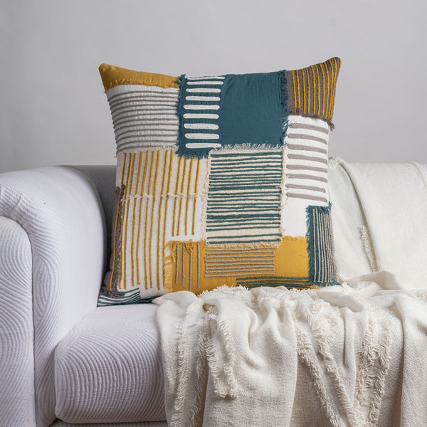 Patchwork Hum Cushion Cover