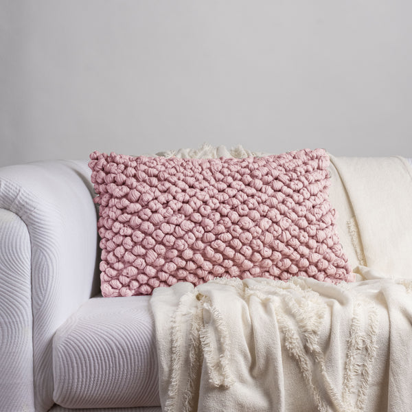 Pink Turban Knot Long Cushion Cover