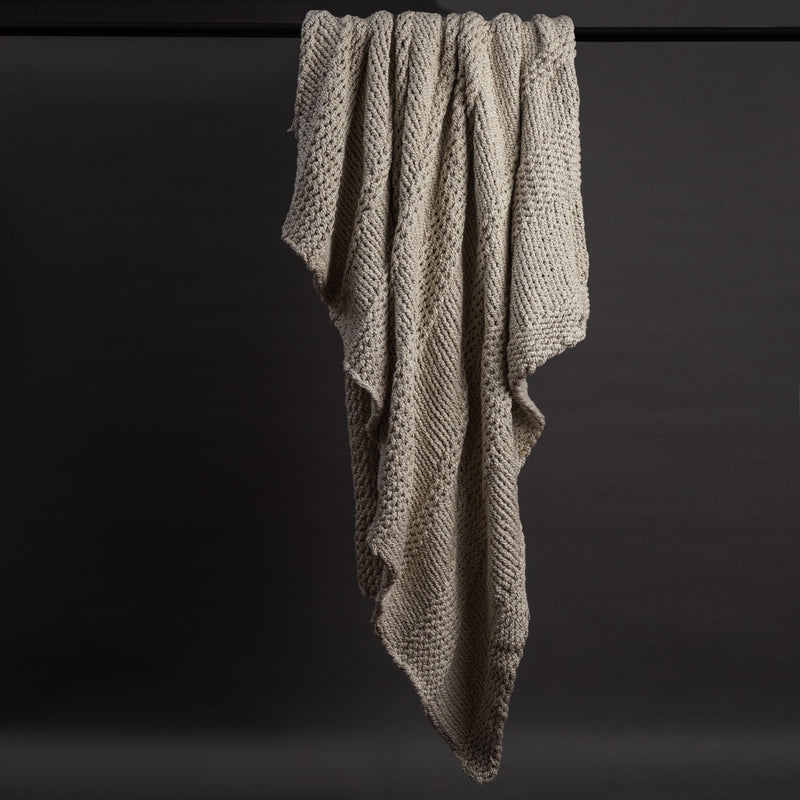 Linear Hand Knitted Throw