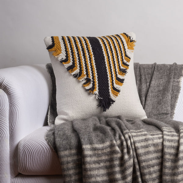 Fringed Collar Cushion Cover