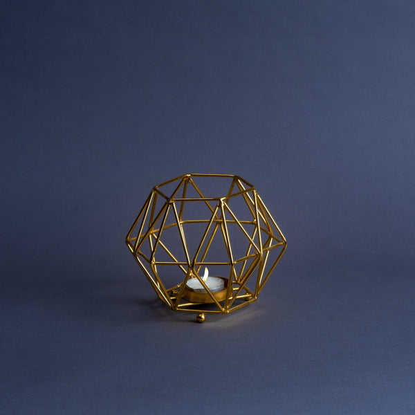Gold Geometric Votive