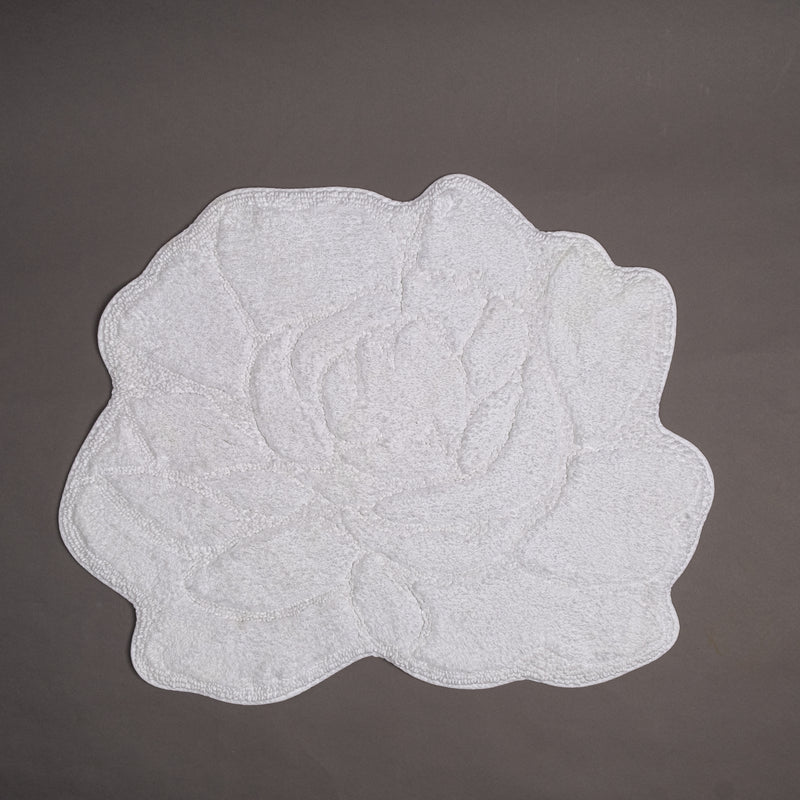 Rose shape bathmat