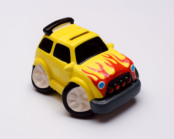 Monster Truck Money Bank - Yellow