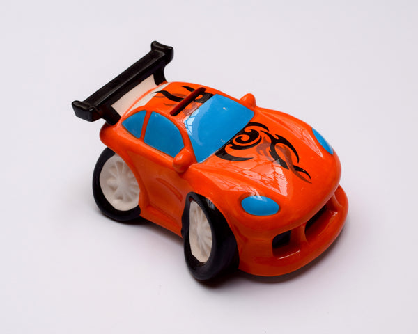 Racing Car Money Bank - Orange