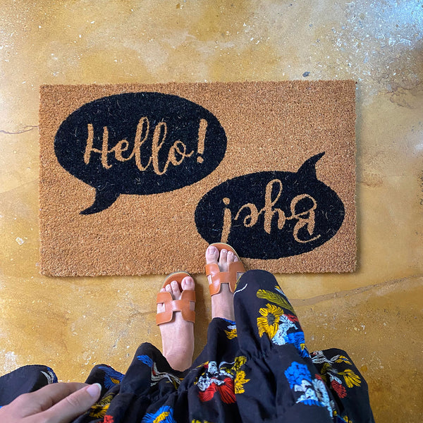 Hello / Bye Front Door Mat