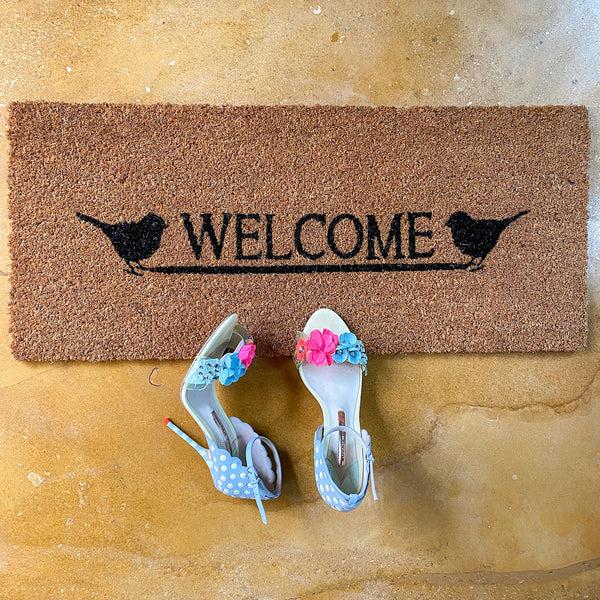 Birds Welcome Door Mat