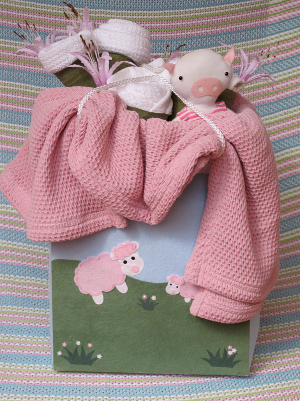 Sheep Silk Paper Gift Bag