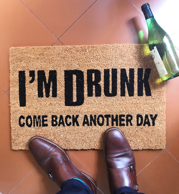 Drunk Front Door Mat