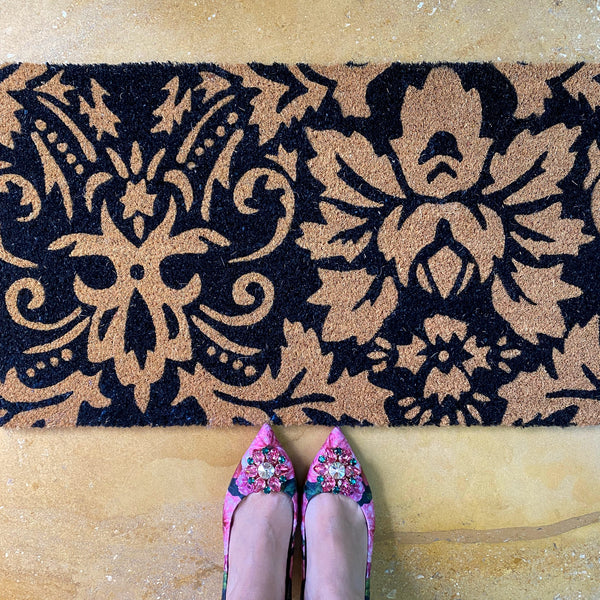 Damask Door Mat