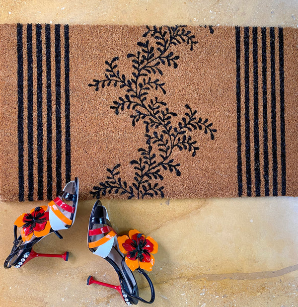 Black Climber Door Mat