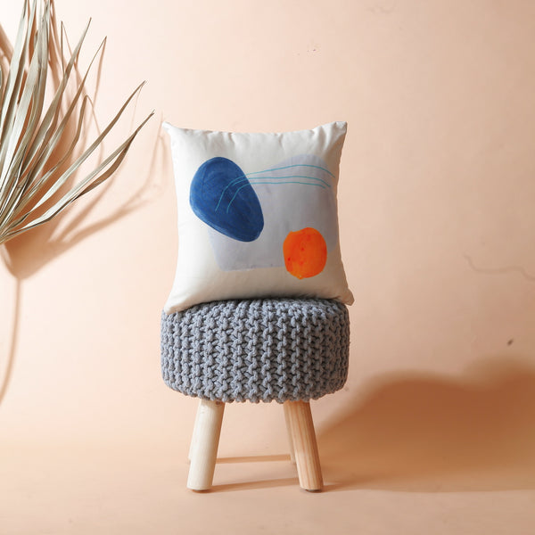 Abstract Cream Cushion Cover