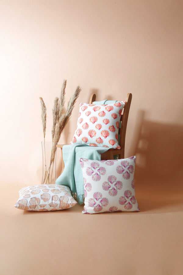 Sea Scallop Pink Cushion Cover