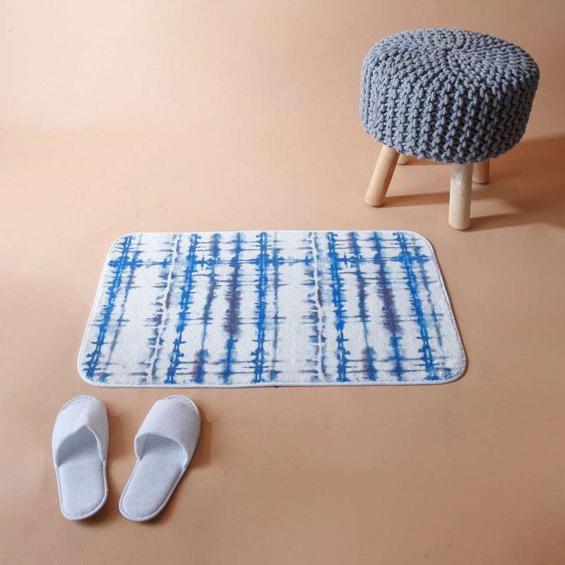 Blue Dip-Dye Washable Mat