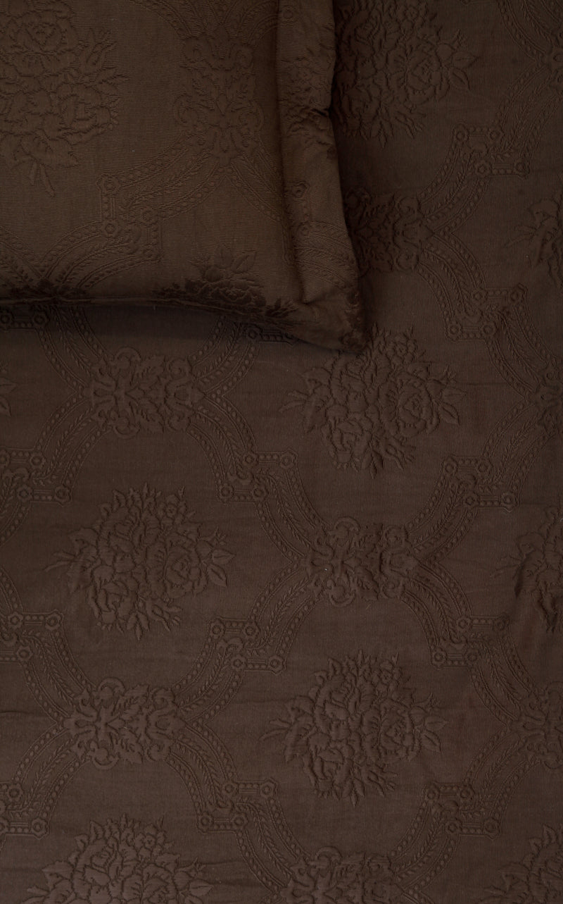 Damask Coffee Bedspread Set