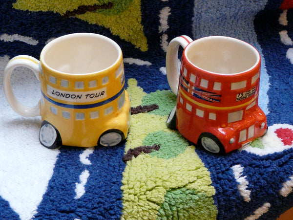 London Bus Milk Mug - Yellow