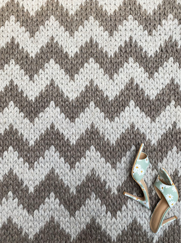 Chevron Braid - Graphite Rug