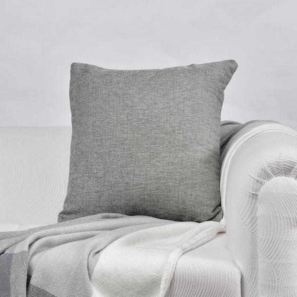 Gray Solid Cushion Cover