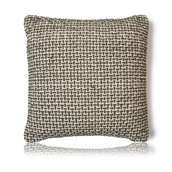 Olive Basket Weave Cushion Cover