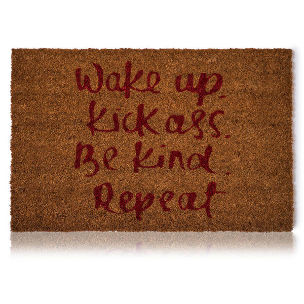 Wake up Door Mat