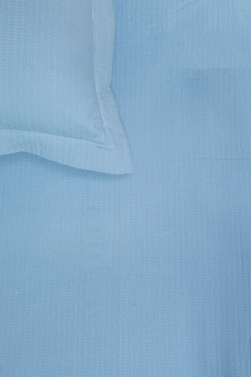 Stitch Reversible Sky Blue Bedspread Set