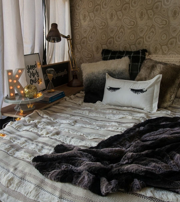 Boho Fringe Throw