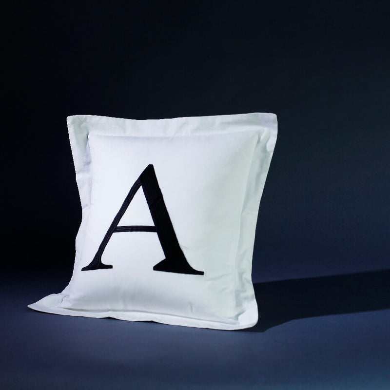 Monogrammed (Personalised) White Cushion Cover