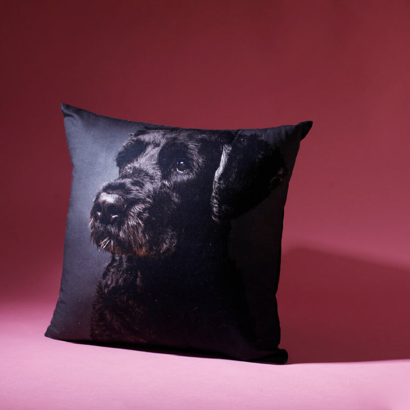Terrier Black Cushion Cover