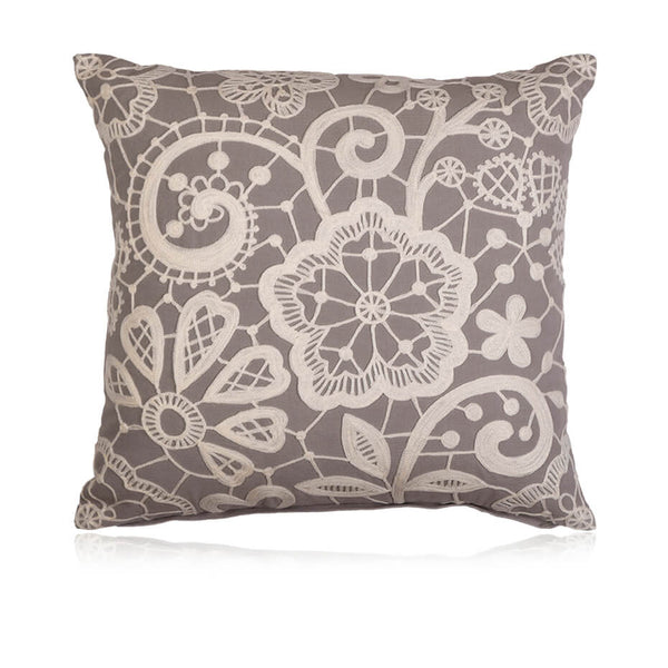 Tea Lace Cushion Cover