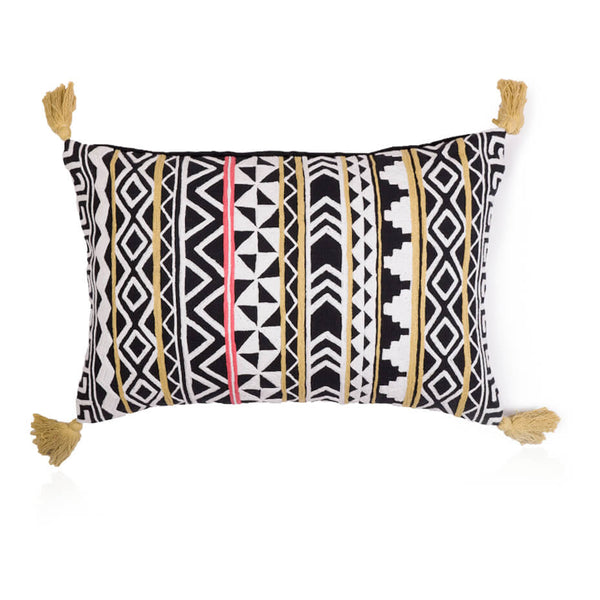 Tribal Tassle Cushion Cover