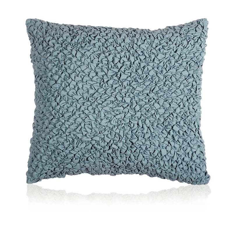 Rouched Teal Cushion Cover