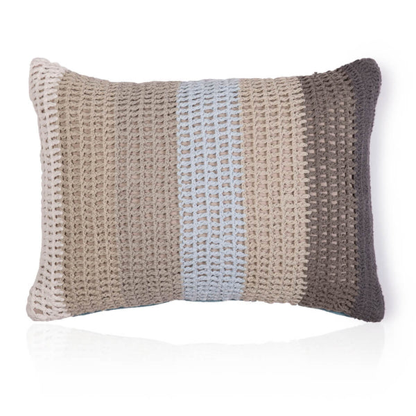 Knitted Stripes Cushion Cover